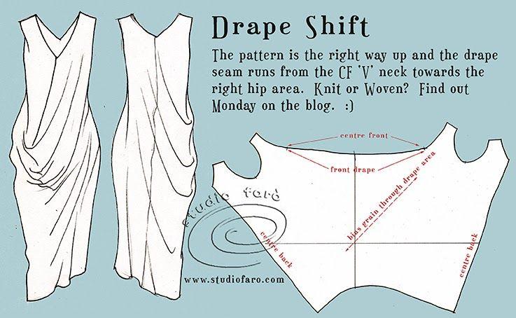 well-suited: Pattern Puzzle - Drape Shift* | dresses | Pinterest ...