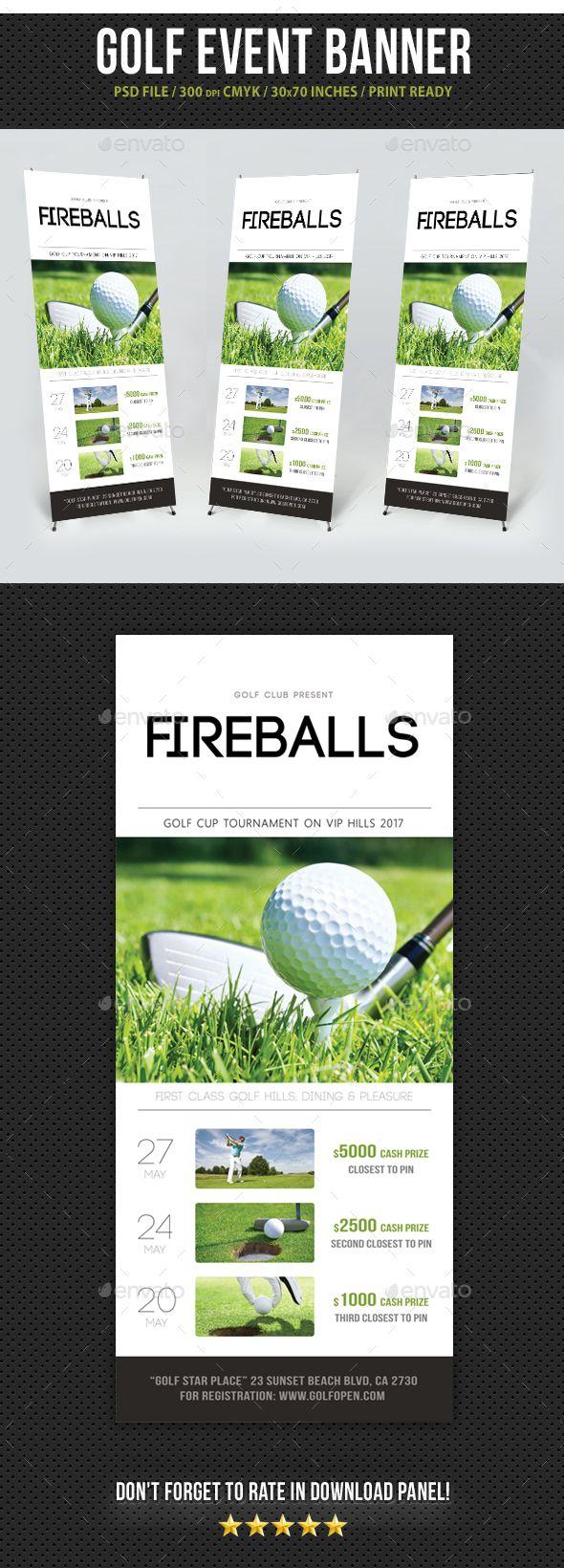 Golf Banner Roll Up Template Roll Up Design Golf Event Banner