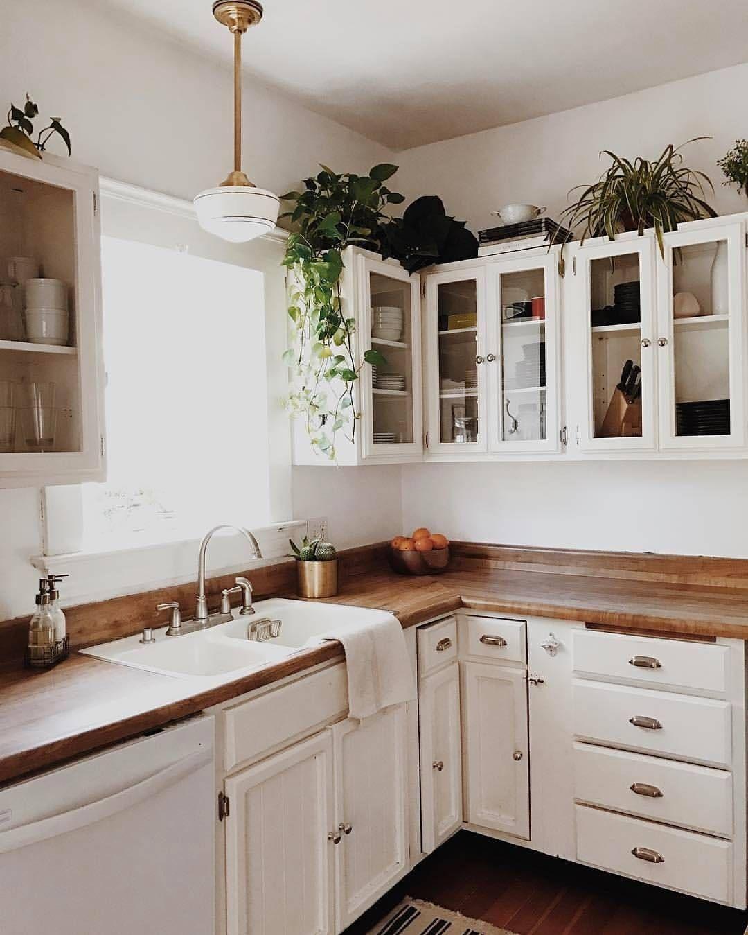 Yes To This Pleasant Kitchen Scene Unionpendant Brassplanter Schoolhouseelectric Via Branchabode Shop Th Kitchen Remodel Retro Home Decor Home Kitchens