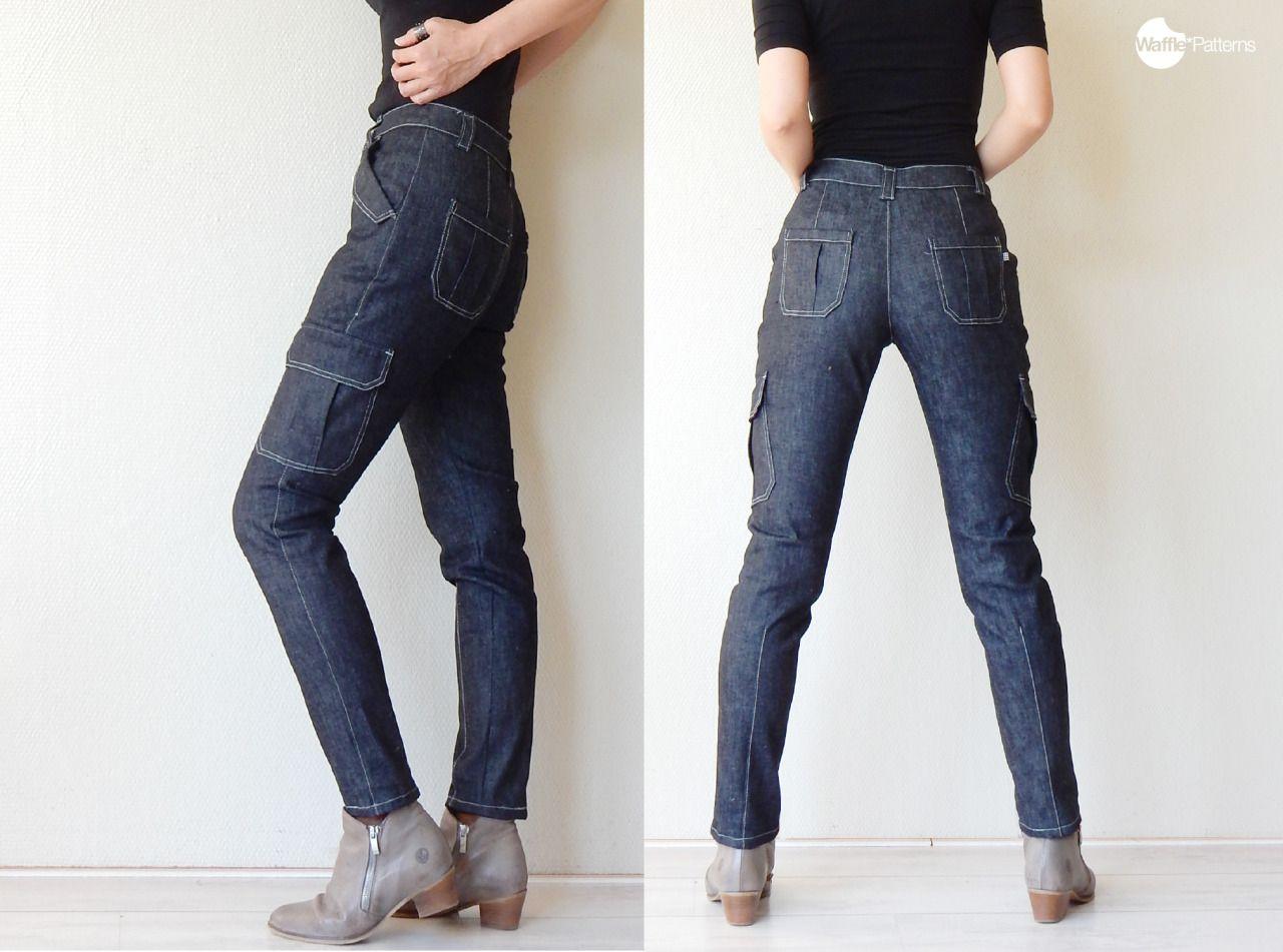 Waffle Patterns pdf sewing patterns Slim tapered pants Pinda ...