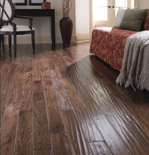 Living Room Flooring Pinterest: Living Room With Hand Scraped Laminate Flooring