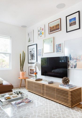 The Best Gallery Wall Ideas Right Now Domino Living Room Tv