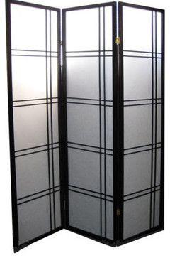 Black Oriental Shoji Room Divider Asian Screens And Room Dividers