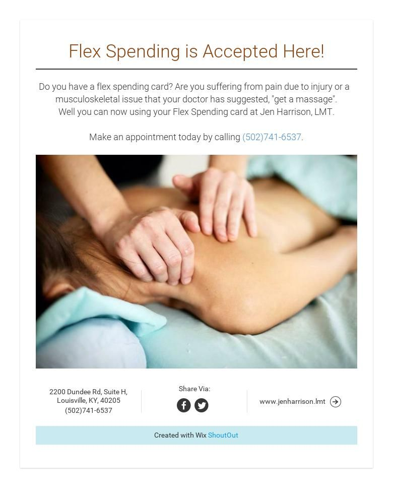 Flex spending is accepted here flex spending getting a