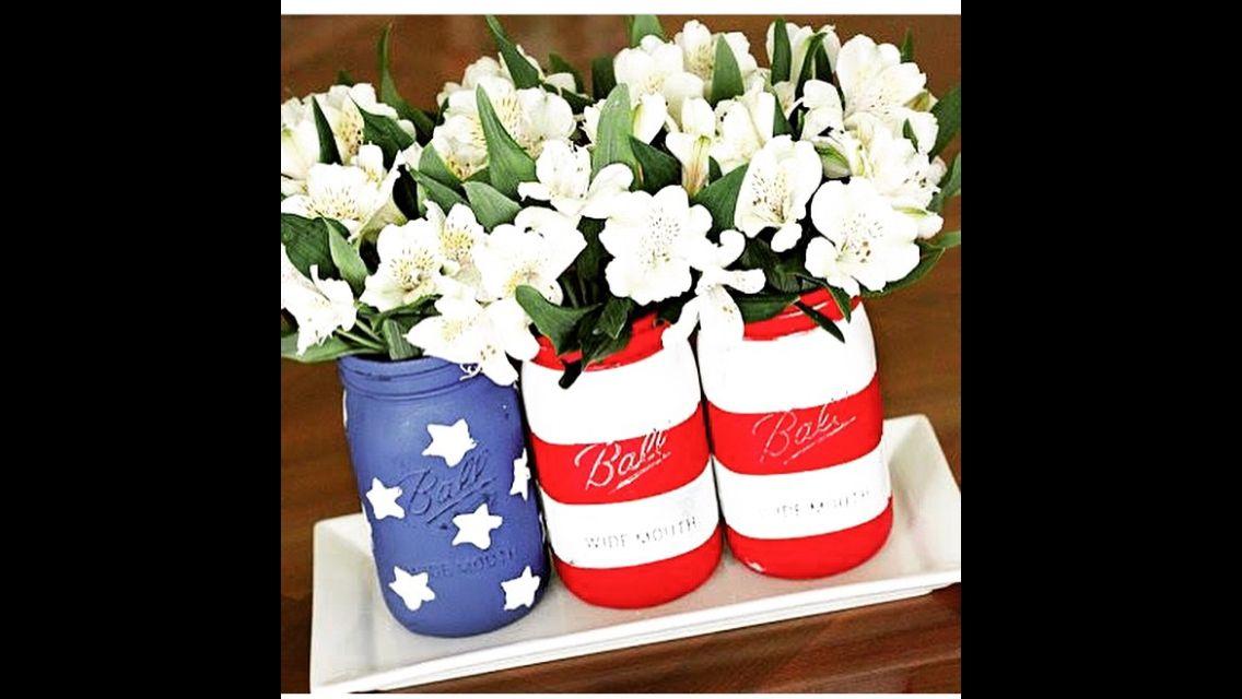 Flag mason jars