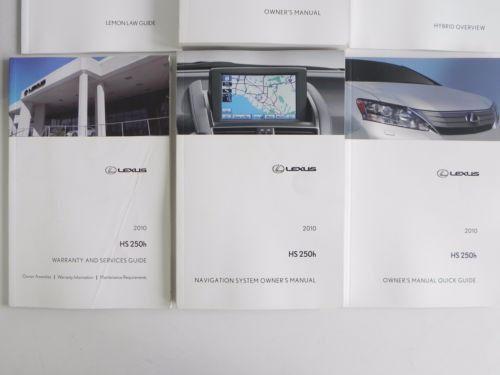 2010 lexus hs250h owners owner s manual navigation gps book quick rh pinterest com lexus hs250h owners manual 2010 Lexus
