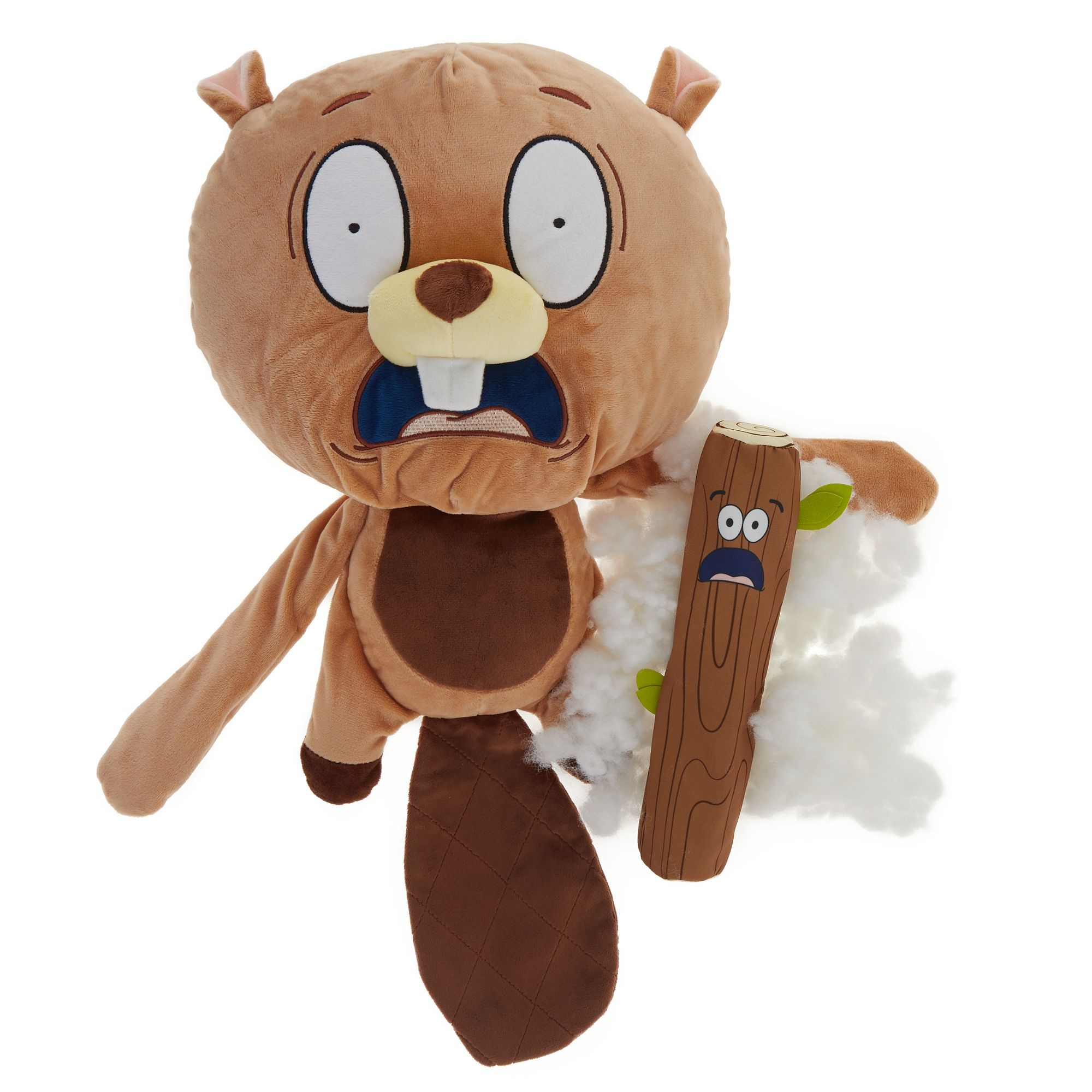 Omg Surprise Baffled Beaver 2 In 1 Dog Toy Plush Squeaker
