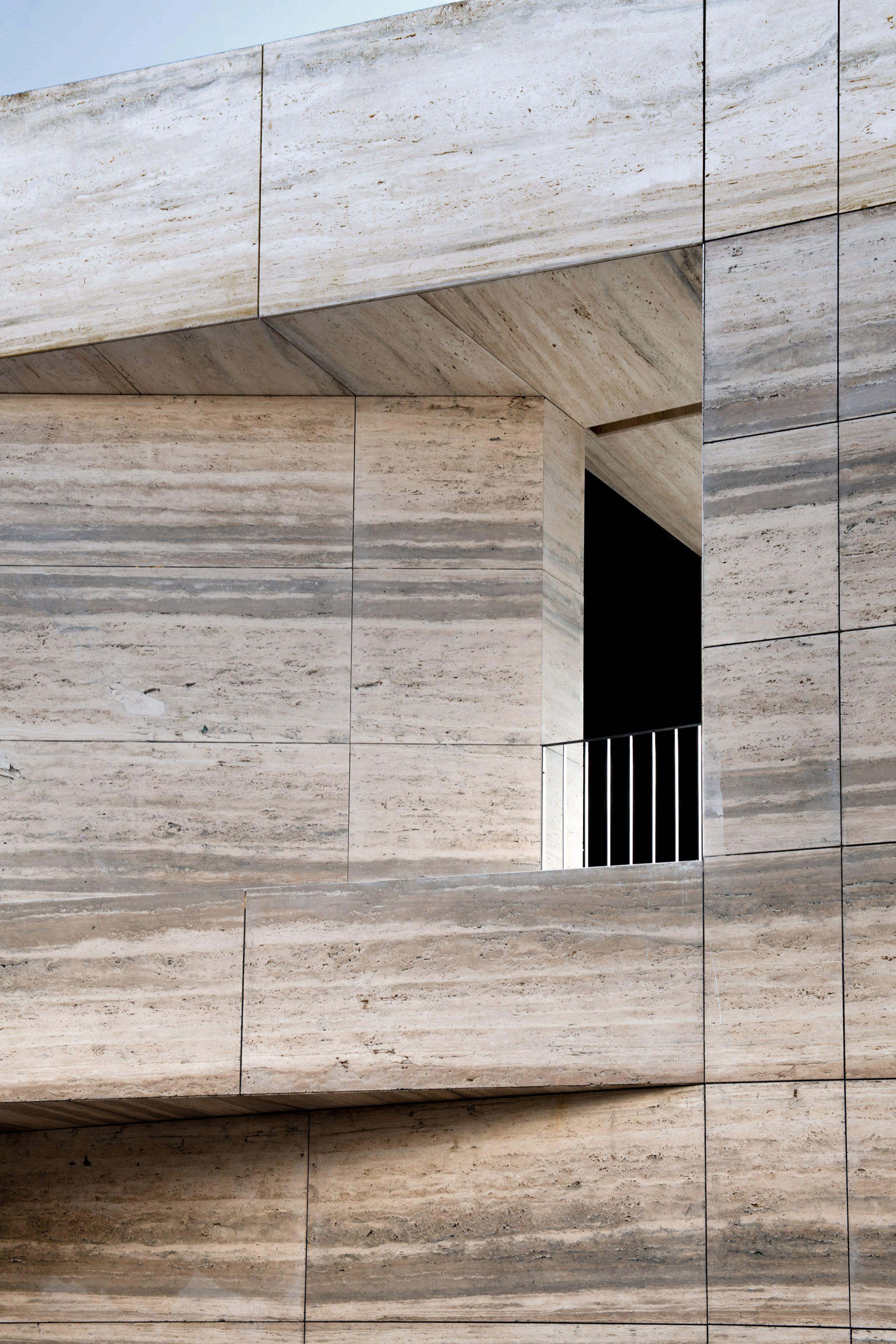 Grupo Arca Showroom Set In A Landscape Of Quarried Stone Arquitectura Studio Arquitectos