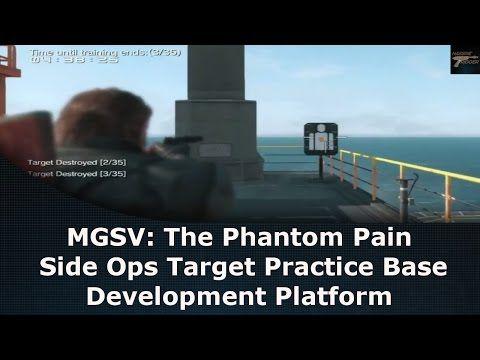 mgsv the phantom pain side ops target practice base development