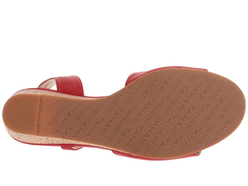 7d9b95a6e6f Tahari Sally Women's Wedge Shoes Coral Red Leather   Products ...