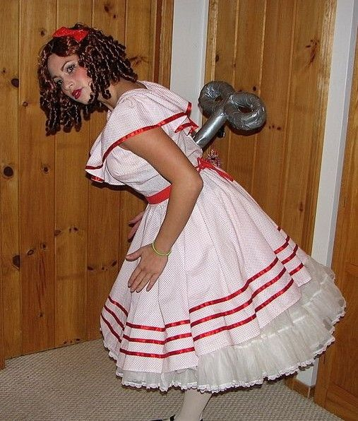creative cool homemade Halloween costumes for adults winding doll