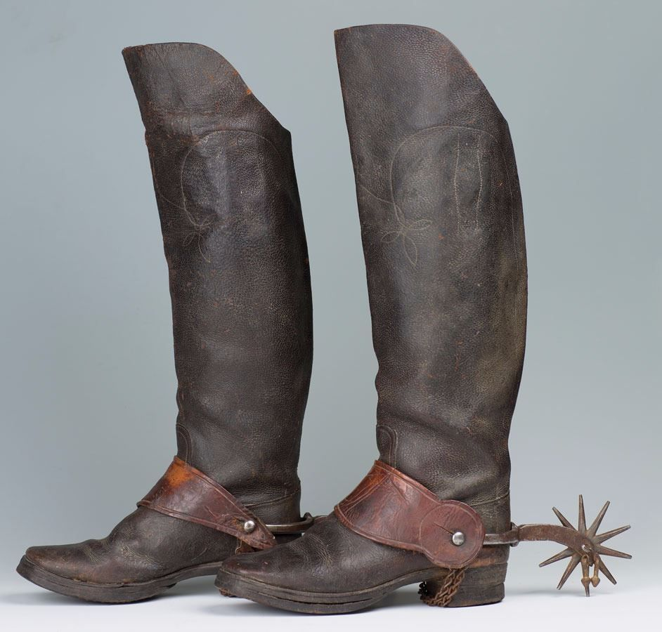 ANTIQUE SILVER COWBOY COWGIRL BOOT /& SPURS 4H COUNTRY WESTERN