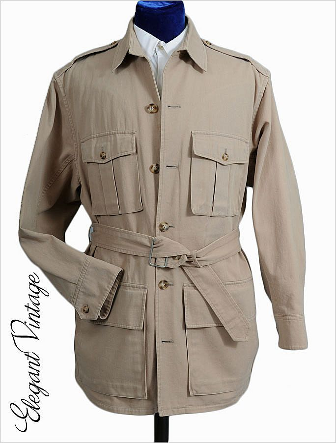 c54f533fd Vintage Banana Republic Safari jacket. This was created when the store was  brand new....and very much aiming at this aesthetic, more of a safari and  ...