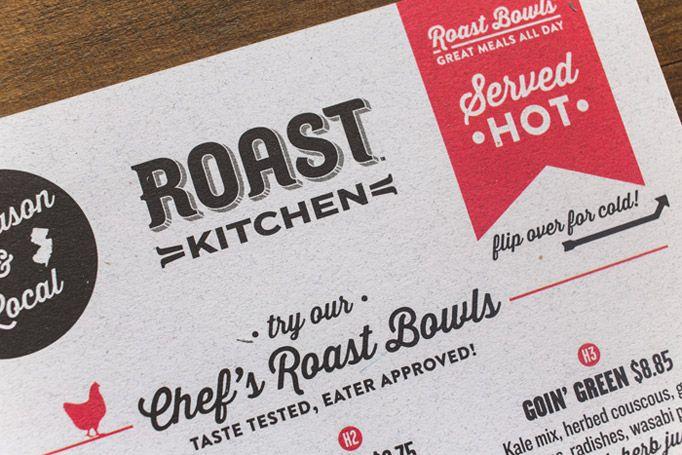 Roast Kitchen Menu Restaurant Branding Menu Design Inspiration