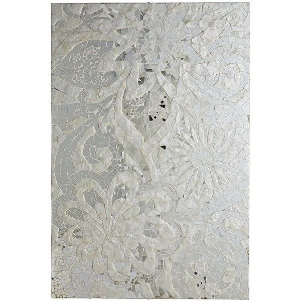 Pier 1 Imports Silver Floral Capiz Wall Panel 255 Cad