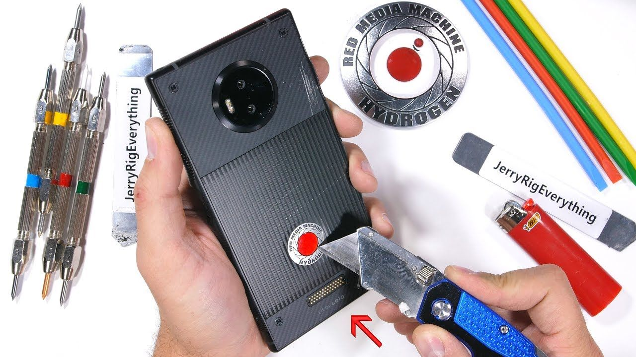 RED Hydrogen One Durability Test Scratching a