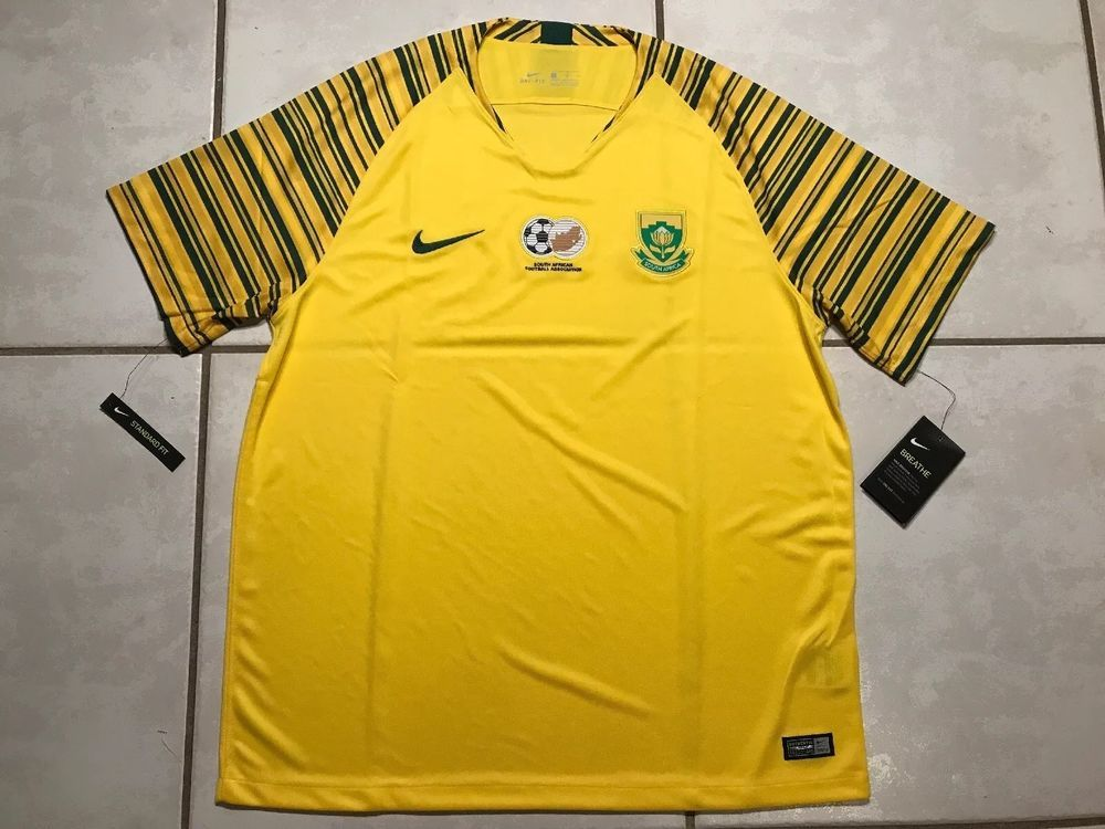 Nwt Nike South Africa National Team 2018 Soccer Jersey Men S Small Ebay Mens Xl Soccer Jersey Nike