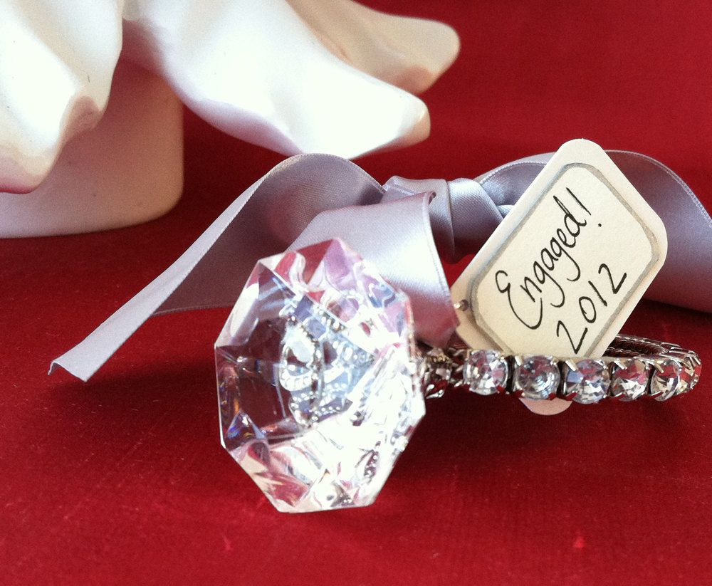 Diamond ring ornament ready to ship only more available