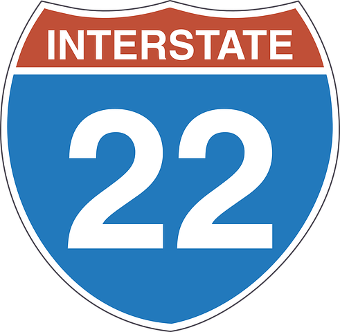 Free Image On Pixabay Interstate 22 Sign Signage Usa Traffic Signs Signage Signs Signage