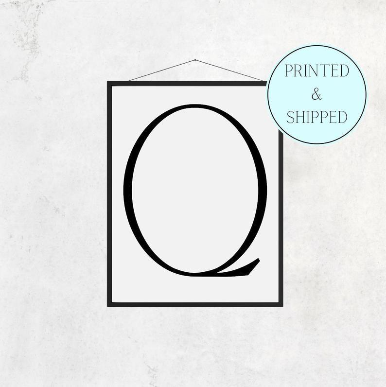 Q Print Letter Q Print Alphabet Print Letter Print Simple   Etsy