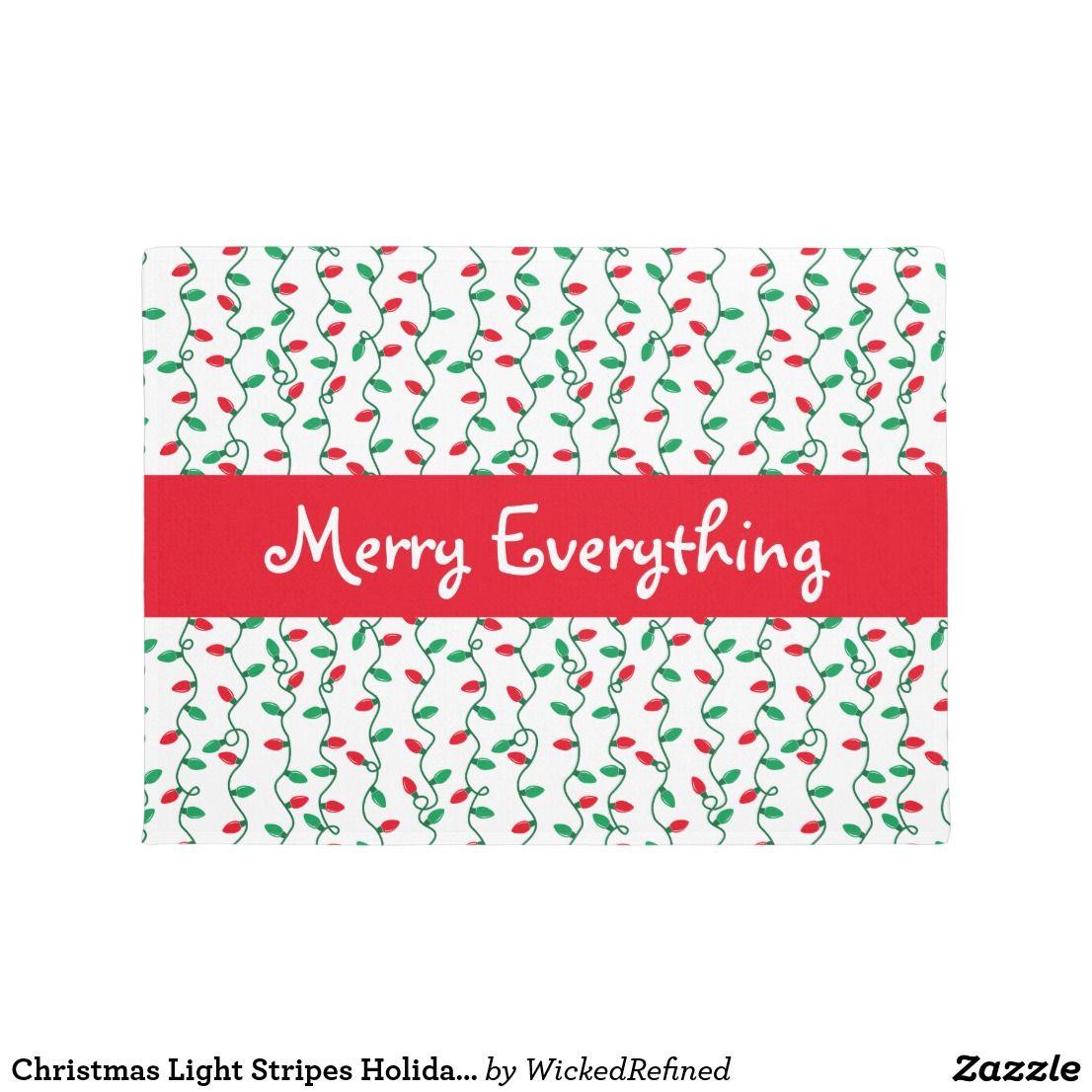 Doormat christmas light stripes holiday greeting by wickedrefined doormat christmas light stripes holiday greeting by wickedrefined perfect for christmas decor christmas kristyandbryce Images