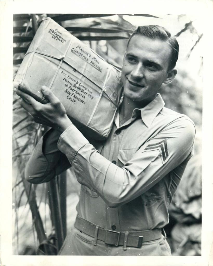 1942 U S Marine Stationed In The Southwest Pacific Gets