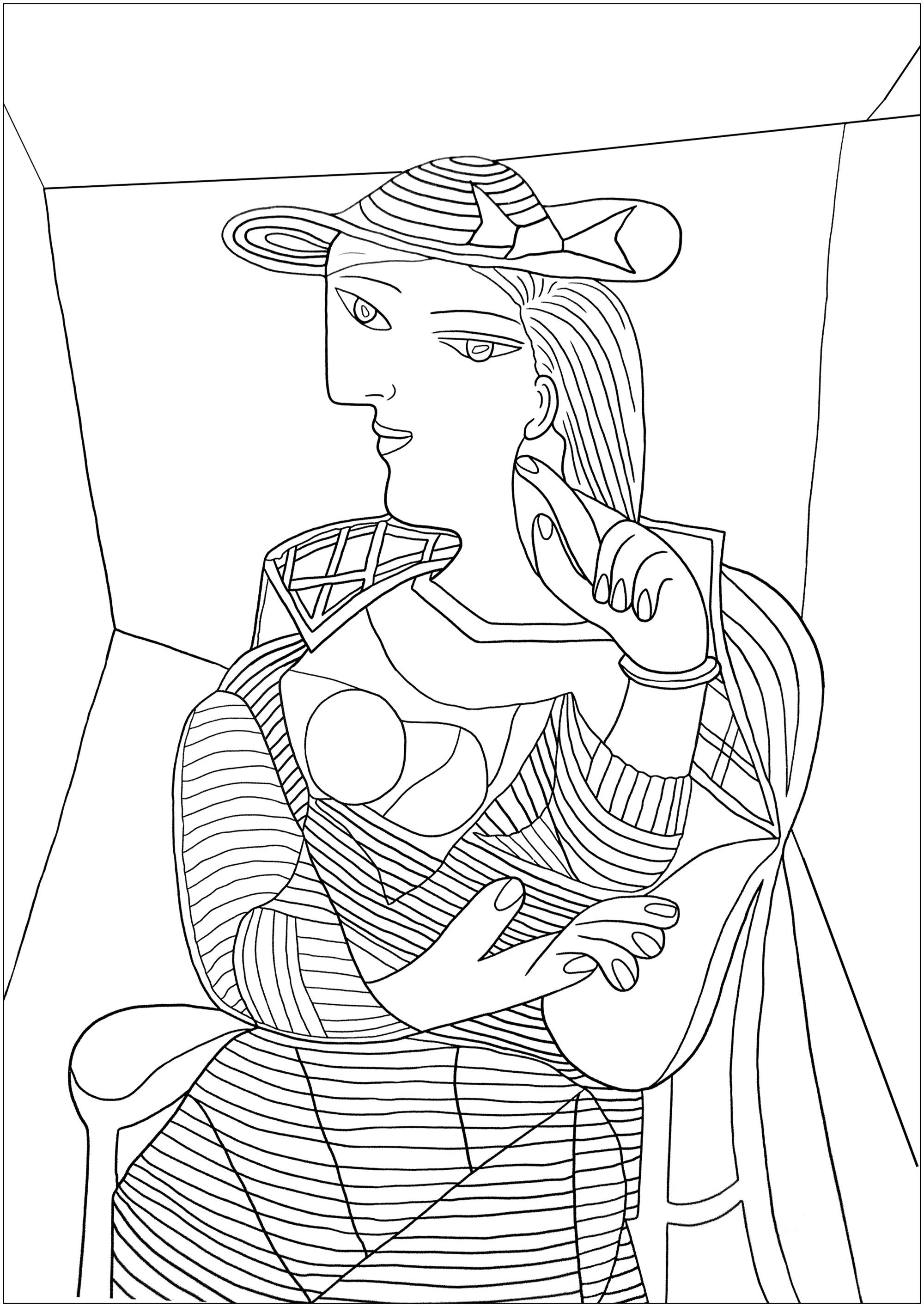Pablo Picasso Coloring Pages For Adults Con Immagini