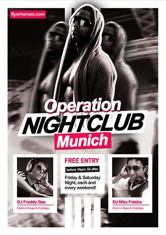 Free Operation Nightclub Flyer Template Httpfreepsdflyercom - Free nightclub flyer templates