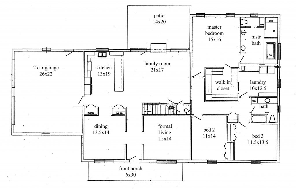 House Plans New Construction Home Floor Plan Ranch House Plans Basement House Plans Simple House Plans