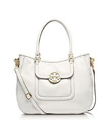 Amanda Classic Handle Hobo yay tory burch - not in white, in tan though. better.