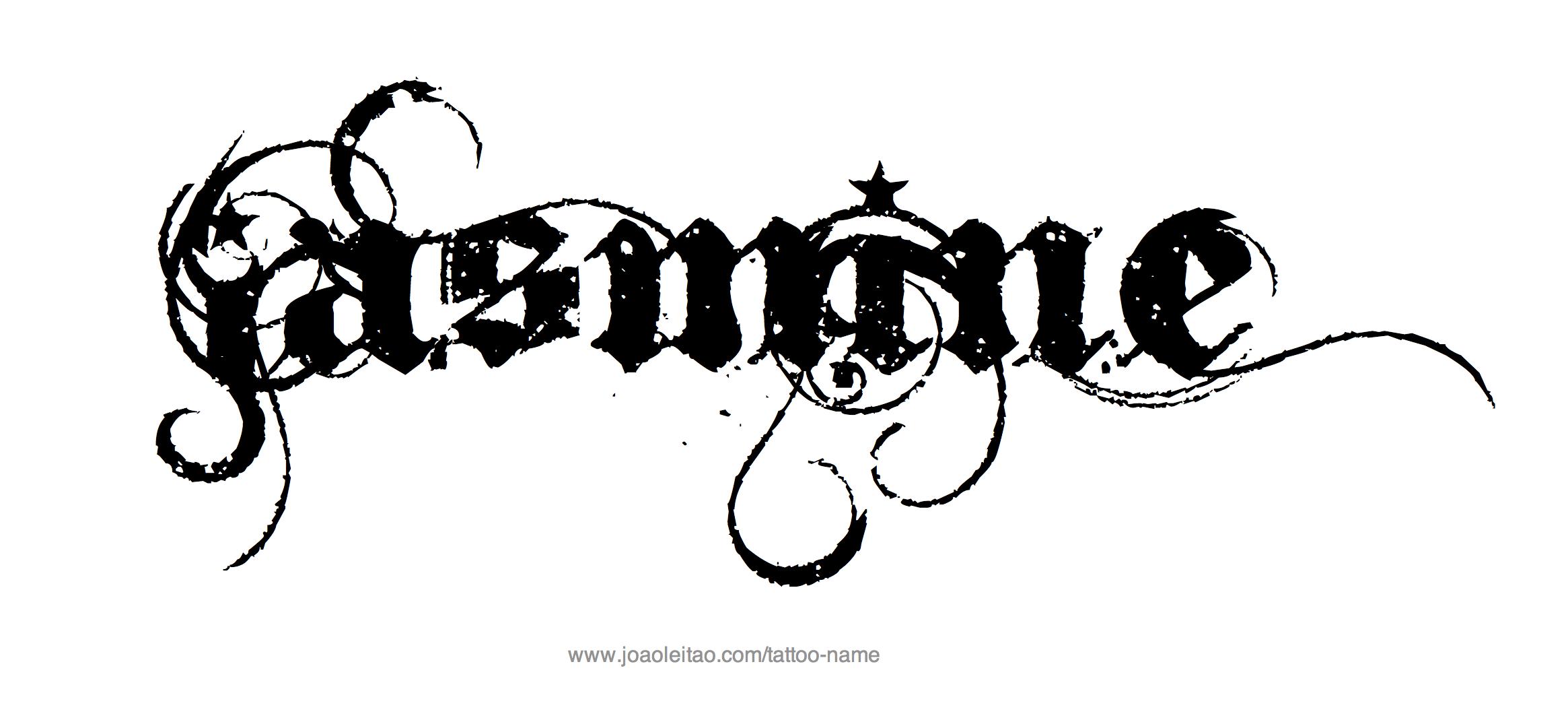 Jasmine Name Tattoo Designs Jasmine Vine And