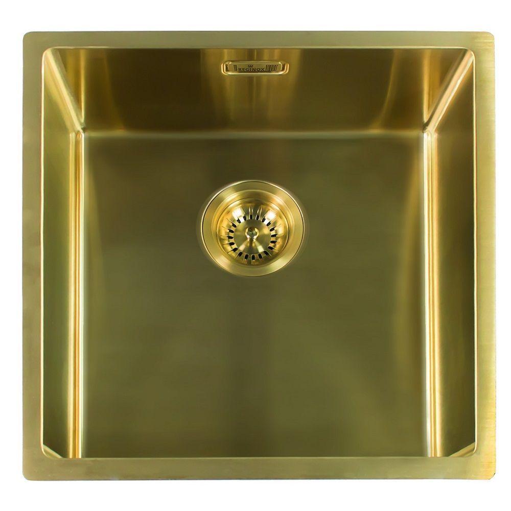 Sensational Reginox Miami 40 X 40 Gold Sink In 2019 Bassett Road 2019 Interior Design Ideas Apansoteloinfo