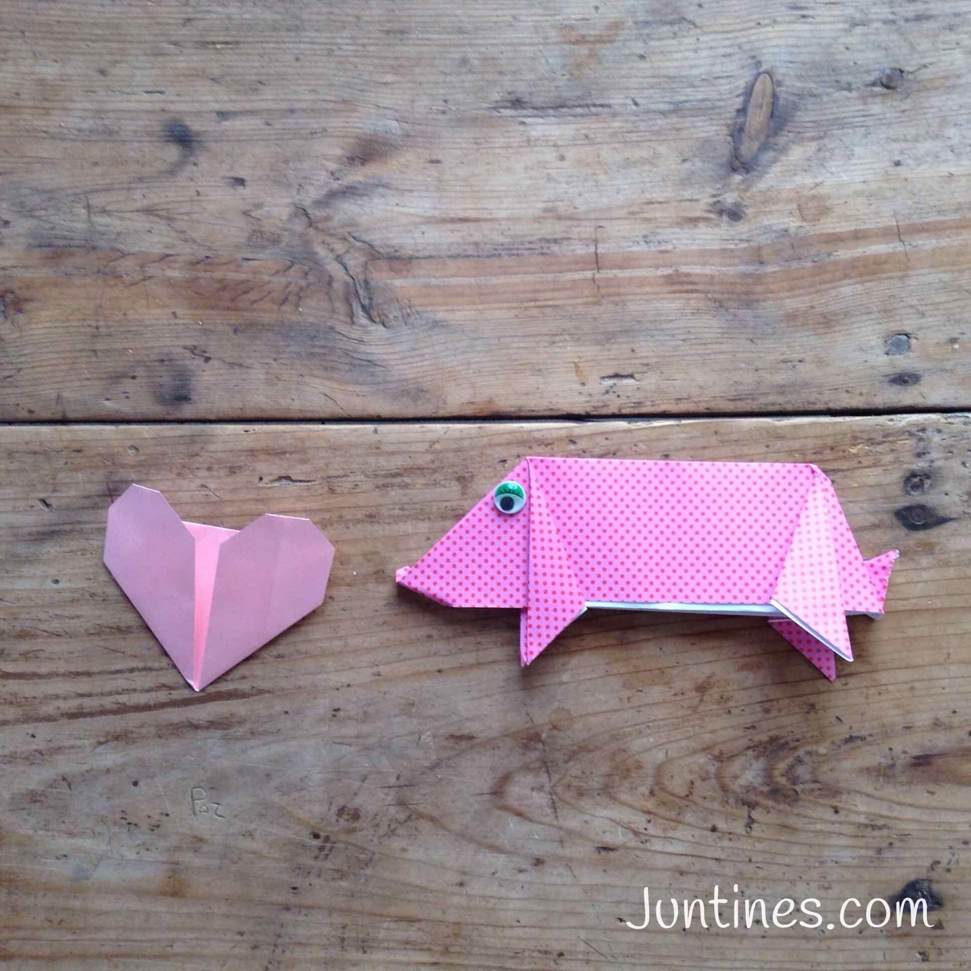 Origami cerdo- Origami fácil - Origami para niños ... - photo#13