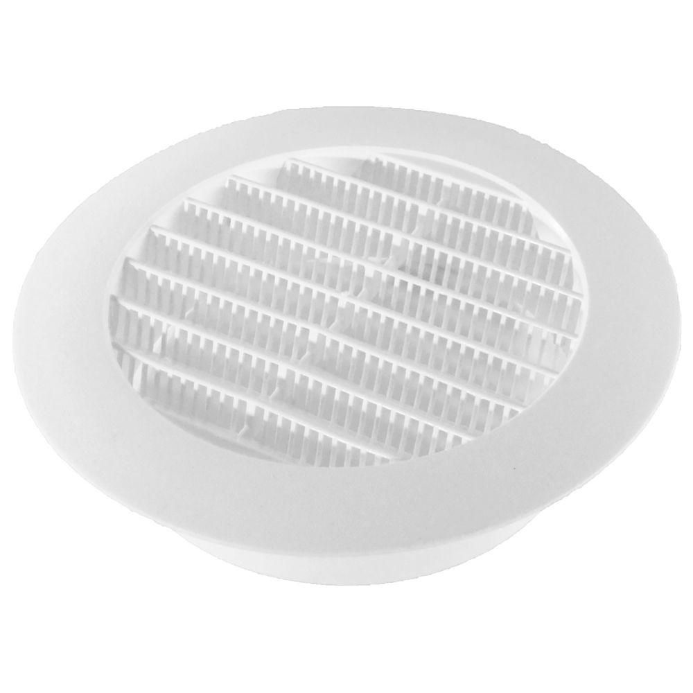 5 In White Round Soffit Vent 4 Pack Vented Plumbing Drawing Ceiling Vents