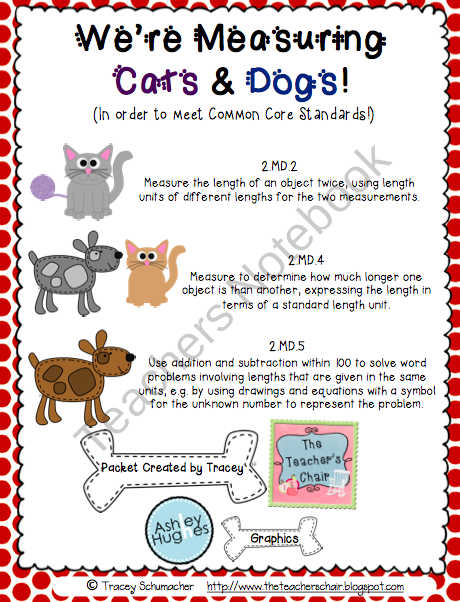 Were Measuring Cats And Dogs To Meet Common Core Standards From