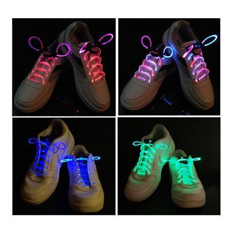 2-Pack: LED Light Shoelaces - Assorted Colors