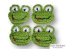 Frosch Gehäkelte Applikation Crochet Applique Crochet Crochet