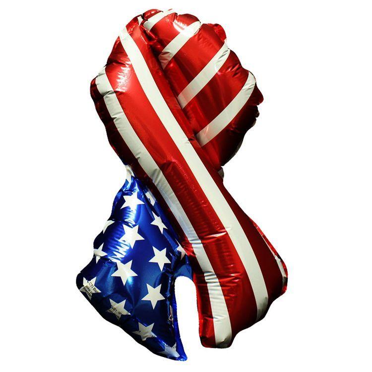"Patriotic Ribbon Metallic 18"" Balloon | Windy City Novelties"