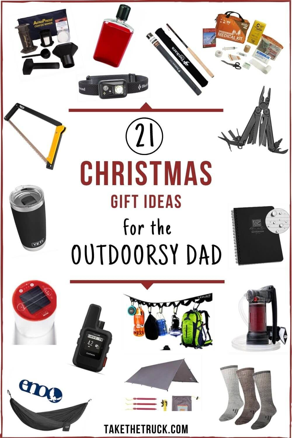 21 Fun And Useful Camping Gifts For Dads Who Love The Outdoors Take The Truck Camping Gifts Christmas Camping Gifts Outdoor Dad Gifts