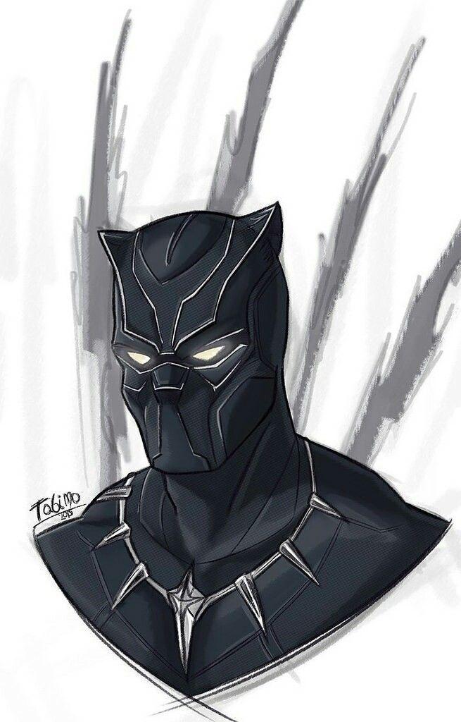 resultado de imagem para desenho de pantera negra pantera negra