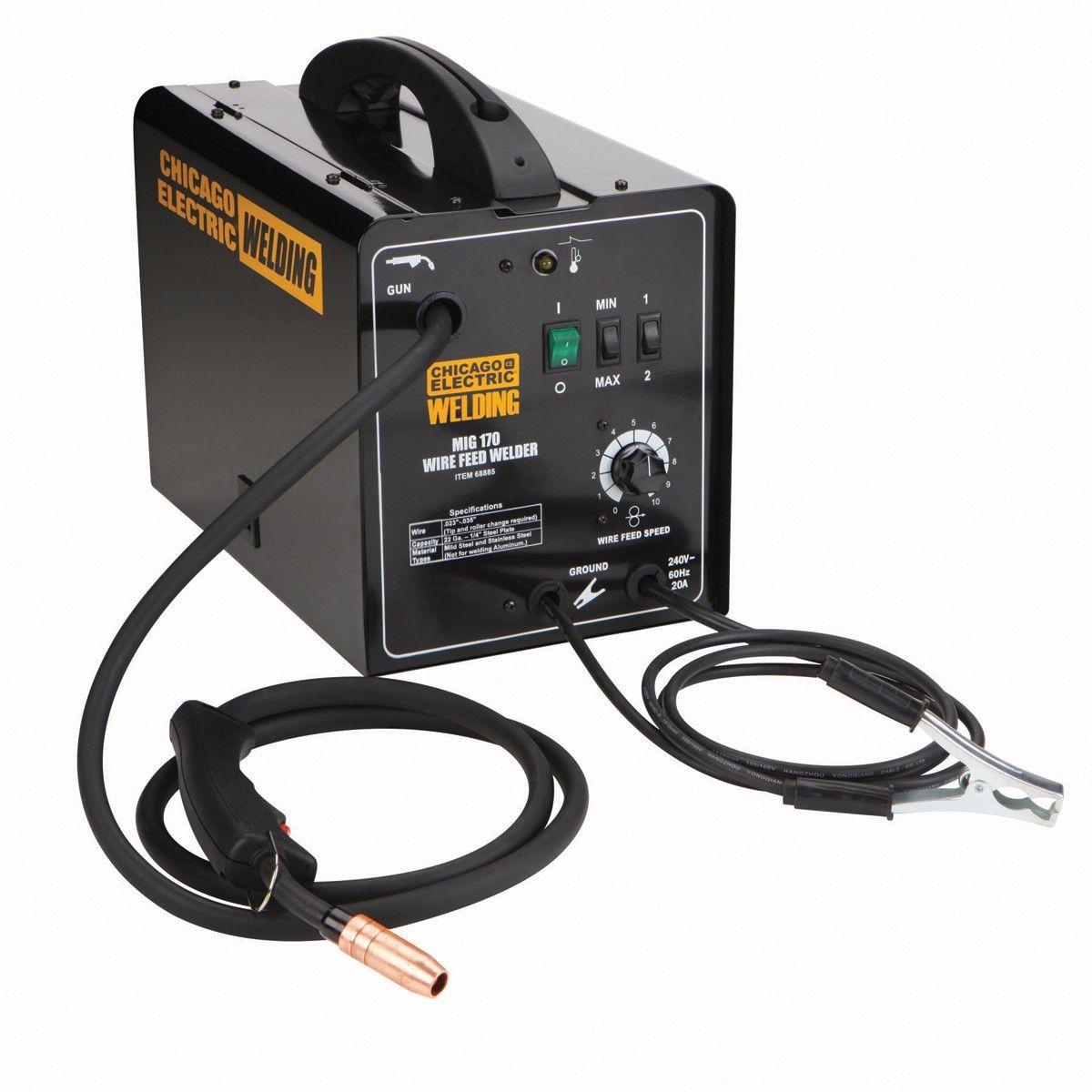 170 Amp-DC, 240 Volt, MIG/Flux Cored Welder | Wire welder