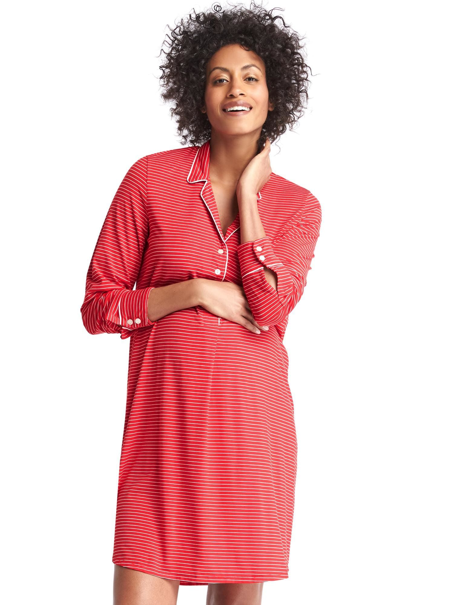 823ae95ef5cb6 SAMI - Print sleep shirtdress | Gap - RED SIZE SMALL | sami and ...