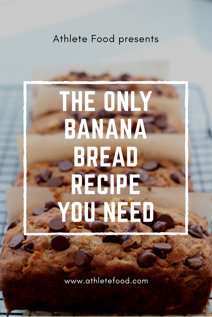 Keep this recipe on hand because it's a good one! Traditional banana bread sweetened with carrots. Lots of room for your own tweaks or substitutions too.  Try it!! #athletefood #athletefood