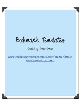 Free Blank Bookmarks For Any Class Over Ten Pages Of Different