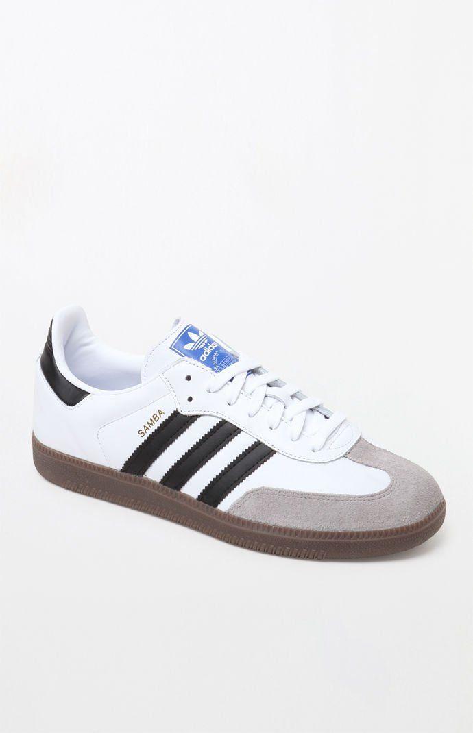 adidas Mens Samba OG White Shoes WhiteBlack   White shoes