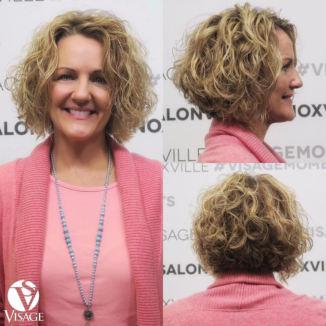 gorgeous curly bob! cut/style: adrienne model: lisa #visagemoments