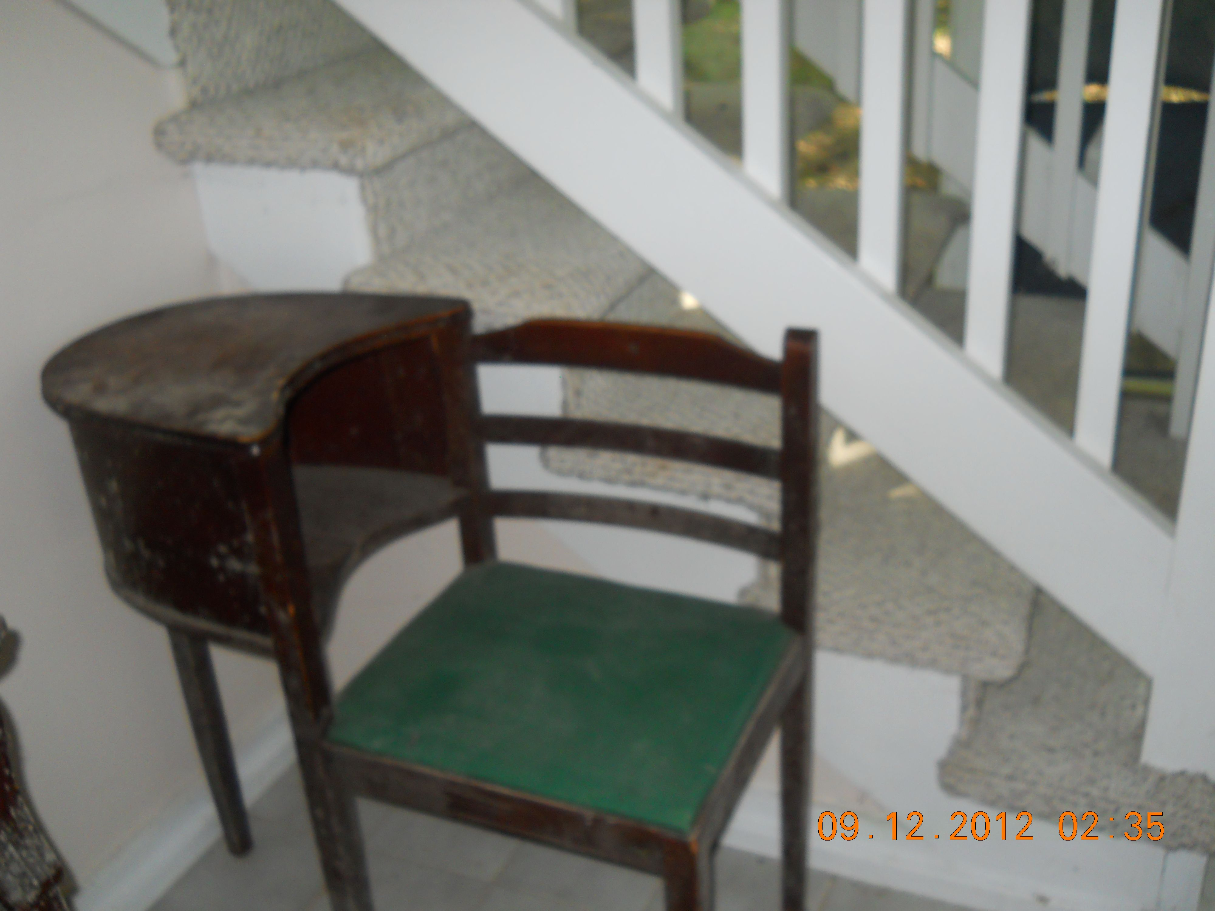 """phone table with attached chair better know as the """"gossip chair"""