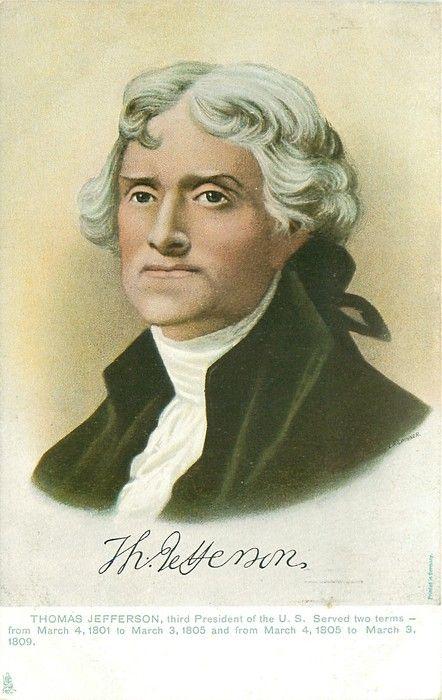 Thomas Jefferson - 3rd president - April 13, 1743