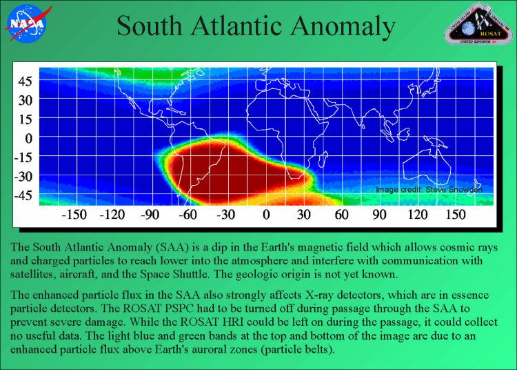 The South Atlantic Anomaly is evidence that a pole reversal
