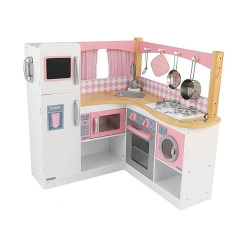 kidkraft deluxe big & bright kitchen 53100 this large wooden toy